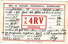 QSL Card QUEENSLAND AUSTRALIA 1933 Funk Karte Radio VK4RV    ( 80491