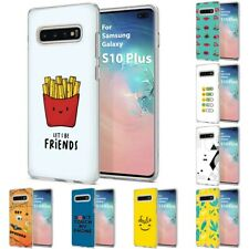 Thin Gel Design Phone Case Cover for Samsung Galaxy S10 Plus,Fries Stylish Print