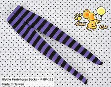 ☆╮Cool Cat╭☆【BP-113】Blythe Pantyhoses Doll Socks # Stripe Black+Purple