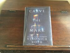 CARVE THE MARK by Veronica Roth,SIGNED w/DOODLE 1st/1st print (2017, Hardcover)