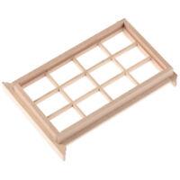 1:12 Dollhouse Miniature Wooden 12-pane Window Frame Model Accessories WNF