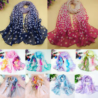Summer Autumn Women Long Soft Chiffon Voile Scarf Wrap Shawl Stole Scarves P