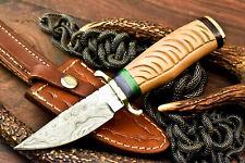 Rare!!! Custom Hand made Damascus Steel Blade Hunting Knife | Amazing Olive Wood