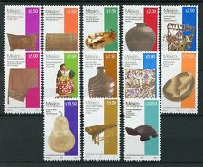 Mexico 2017 MNH Art Series Popular Creation Definitives Artefacts 13v Set Stamps