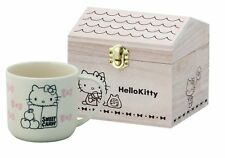 Hello Kitty Mug Cup Wooden Box Cream HK72-11H Yamaka from Japan