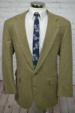 Chaps Ralph Lauren Mens Brown HERRINGBONE Alpaca Sport Coat Blazer Jacket 46L