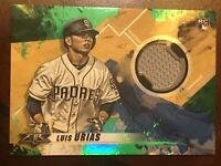 2019 Topps Fire LUIS URIAS RC Green Parallel Jersey Relic /75 Padres~Brewers!