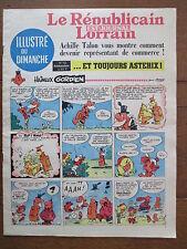 LE REPUBLICAIN LORRAIN ILLUSTRE DU DIMANCHE 12 UDERZO GREG MORRIS GRATON... 1967