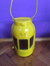 Yellow large feuerhand German lantern lamp