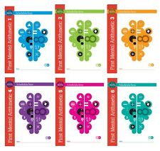 Set of Scofield & Sims First Mental Arithmetic1,2,3,4,5,6 Kids Ages 5-7, KS1,New