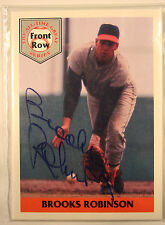 Front Row All Time Great Series Brooks Robinson Set Autograph COA
