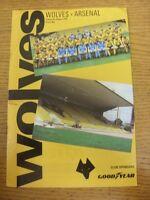07/08/1992 Wolverhampton Wanderers v Arsenal [Friendly] (creased, slight marked)