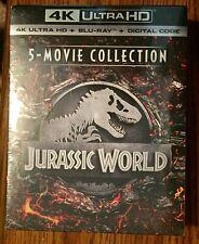 Jurassic World 5 Movie Collection 4K + Blu-Ray + Digital Box Set NEW