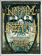 Napalm Death Kataklysm Regency Ballroom SF 2009 Band Autographed Poster J Howard