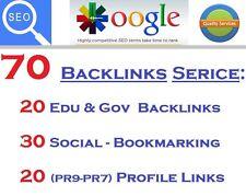 High Pr 70 Awesome Backlinks Service Profile Edu Gov Social Links