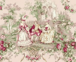 Cottage Shabby Chic Quilt Gate Classic Library Cotton Fabric QUGRU2400-11D BTY