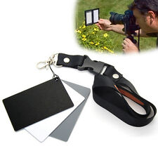 3in1 Digital Camera Grey Card White Black 18% Gray Color White Balance & Strap