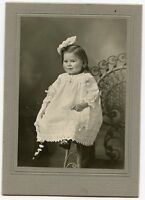 Antique Photo-Little Girl, Large Bow, HOFFMAN Family, Salida, Colorado - 1912
