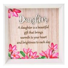 Daughter is a beautiful gift colourful square wall plaque gift 283775