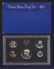 1971-S U.S. MINT PROOF SET...5 COINS...BLUE BOX