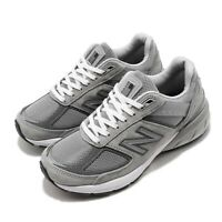 New Balance 990 v5 Wide Grey White Women Running Casual Shoes Sneakers W990GL5 D