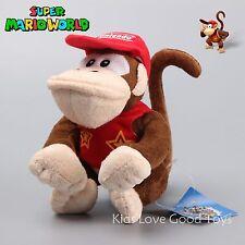 "Super Mario 6.5"" Donkey Diddy Kong Plush Toy Stuffed Animal Nintendo Monkey Doll"