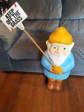 Rare Union Blow Mold Blue Elf gnome Leprechaun Elf Lawn Ornament decoration
