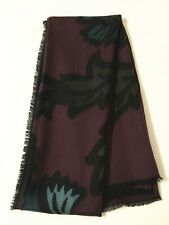New BURBERRY Printed Modal & Cashmere Scarf in Burgundy