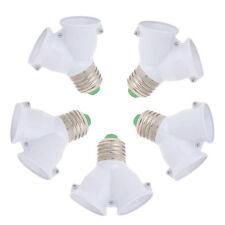 5Pcs E27 To Dual E27 Base Socket Extender Converter Adapter LED Light Bulb Lamp
