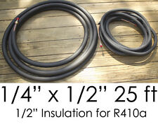 "25 Ft. Ductless Mini Split Air Conditioner Line Set 1/4"" x 1/2"" 1/2"" Insulation"