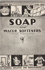 Soap and Water Softeners 1944, Cornell Extension Bulletin June 1944