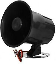 Electronic Alarm Siren Horn Outdoor for Home Security Protection System New