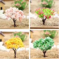 4pcs/lot Dollhouse Miniature Tree Plants Fairy Garden Decoration Model Set