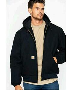 Carhartt Men's Quilted Flannel Lined Duck Active Jacket, Black, Size XX-Large