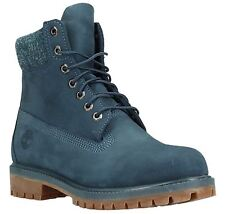 Timberland 6 Inch Premium Midnight Navy Mens Leather Boots
