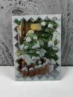 """Handmade ACEO """"Christmas Play House"""" Artist Trading Cards Art Unknown"""