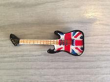 New London Magnet British Union Jack Guitar Tourist Souvenir Fridge Gift Music