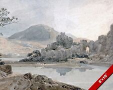CONWAY CASTLE NORTH WALES MIDIEVAL TIMES PAINTING ART REAL CANVAS GICLEEPRINT