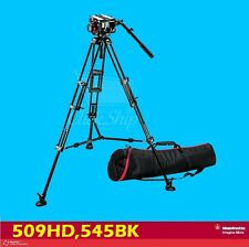 Manfrotto 509HD,545BK Bundle 509HD Video Head with 545B Tripod kit & Padded Bag