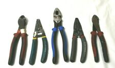 ASSORTED LOT OF KLEIN TOOLS WIRE CUTTERS STRIPPERS H2