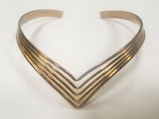 METAL WIRE COPPER/GOLD TONE CUFF CHOKER NECKLACE