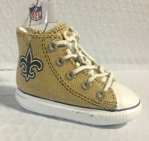 New Orleans Saints Sneaker Ornament Christmas Tree Holiday - FREE SHIPPING