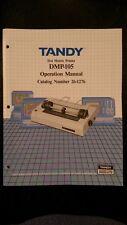 Tandy Radio Shack Cat. No. 26-1276 Operation Manual DMP-105 Dot Matrix Printer