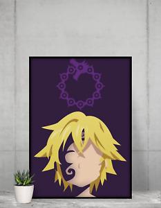 The Seven 7 Deadly Sins Art Poster Anime TV Wall Art print design Size A4 A3 A2