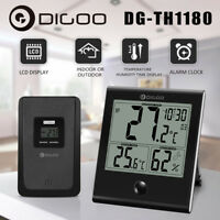 Digoo DG-TH1180 LCD Thermometer Hygrometer Weather Station & Outdoor  Sensor NEW