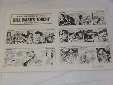 The Origin of BILL WARDS TORCHY U.S.ARMY 1943 Hand Signed Original Comic Strip