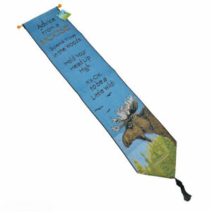 Advice From A Moose True Nature Tapestry Wall Hanging Bellpull