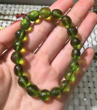 10mm Green GEM MOLDAVITE Meteorite Impact Glass Bead Bracelet