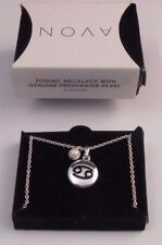 LOVELY AVON ZODIAC NECKLACE WITH GENUINE FRESHWATER PEARL CANCER NOS 2013