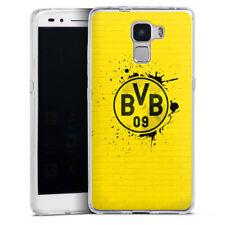 Huawei Honor 7 Silikon Hülle Case Handyhüle - Spraylogo Yellow - BVB
